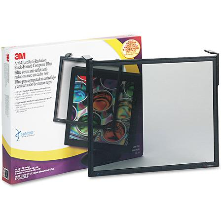 "3M Antiglare Executive Flat Frame Monitor Filter, 19""-21"""