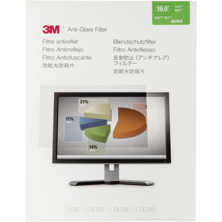 "3M Antiglare Flatscreen Frameless Filter for 19"" LCD"