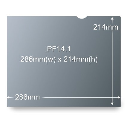 "3M Blackout Frameless Privacy Filter for 14.1"" Notebook"