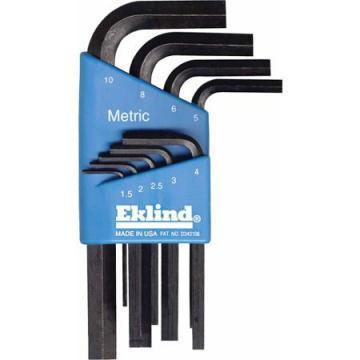 Eklind 9-Piece Metric L-Wrench Hex Key Set, Short-Arm