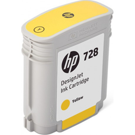 HP 728 40ml Yellow DesignJet Ink Cartridge