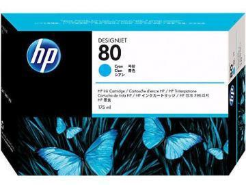 HP 80 Cyan Ink Cartridge 175ml
