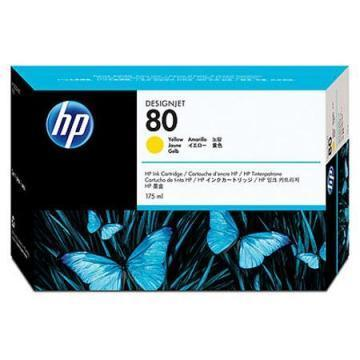 HP 80 Yellow Ink Cartridge 175ml