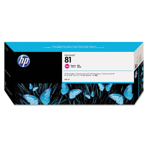 HP 81 Magenta Dye Ink Cartridge 680ml