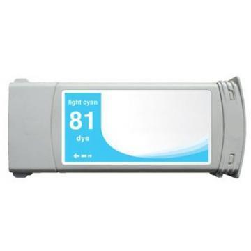 HP 81 Light Cyan Dye Ink Cartridge 680ml