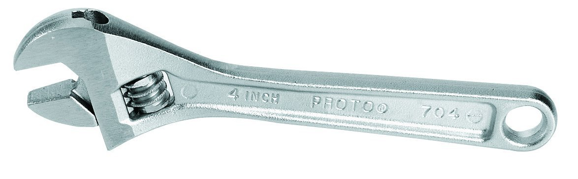 "Proto Adjustable Wrench, 6"" Long, 15/16"" Opening, Satin Chrome"