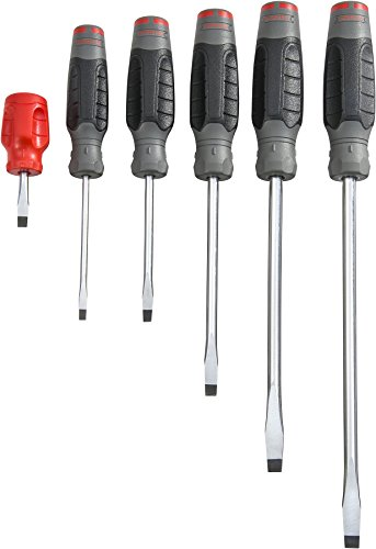 Proto Screwdriver Set, Slotted, 6 Pc