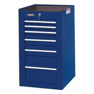 Proto Side Cabinet, 19-1/2 x 25 x 34 in., Blue, 6 Drawers