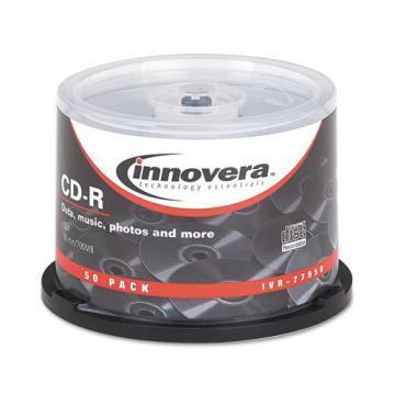 Innovera CD-R Discs, 700MB/80min, 52x, Spindle, 50/Pack