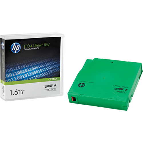 "HP 1/2"" Ultrium LTO-4 Cartridge, 2600ft, 800GB/1.6TB"