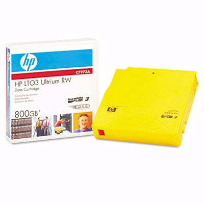 "HP 1/2"" Ultrium LTO-3 Cartridge, 2200ft, 400GB/800GB"