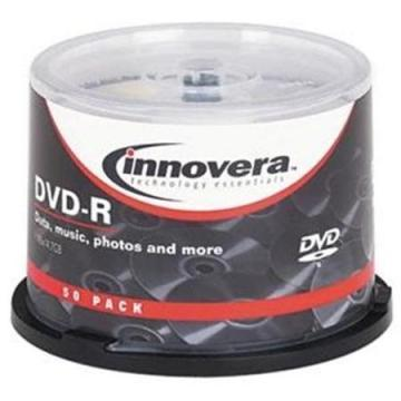 Innovera DVD+R Discs, 4.7GB, 16x, Spindle, 50/Pack