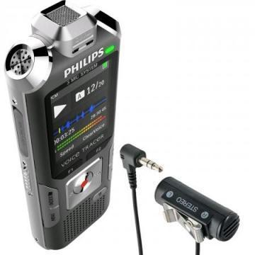 Philips Voice Tracer 6000 Digital Recorder, 4 GB, Silver/Anthracite