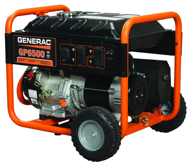 Generac Portable Generator 6500 Watts Gas