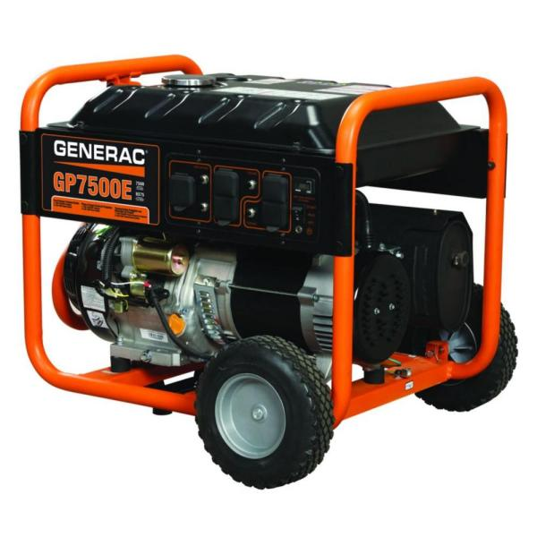 Generac Portable Generator 7500 Watts Gas