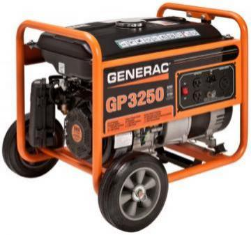 Generac Portable Generator 3250 Watts Gas