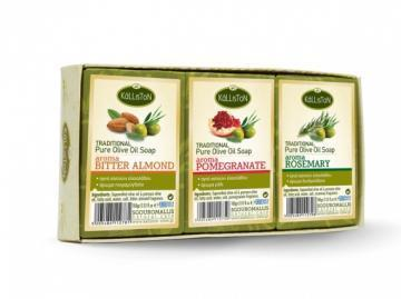 Kalliston Traditional Olive Oil Soap 3pcs Box