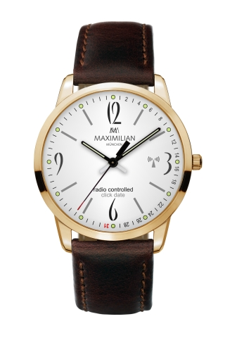 Maximilian 5332-1 Radio Controlled Click Date Watch