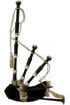 Roosebeck Full Size Sheesham Black Finish Bagpipe with Black Cover