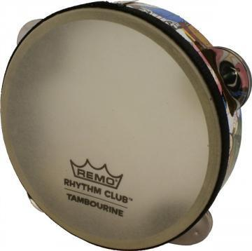 Remo Rhythm Club Tambourine With 4 Sets Jingles 6x1.75""