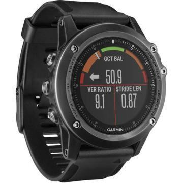Garmin fenix 3 HR Multi-Sport Training GPS Watch (Gray, Black Band)