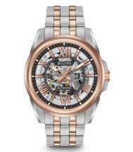 Bulova Automatic Silver & Rose Gold Tone Watch