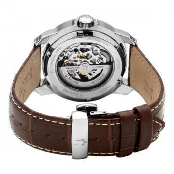 Bulova BVA Automatic Dual Aperture Brown Leather Watch