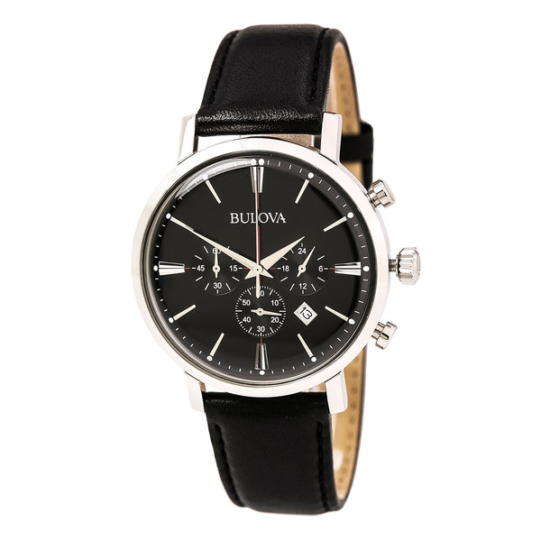 Bulova Classic Chronograph Black Leather