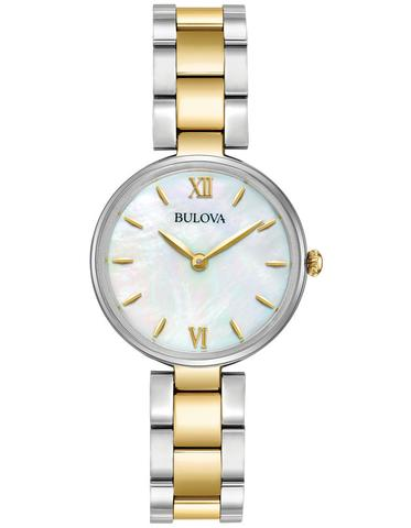 Bulova Classic Mother Of Pearl Two Tone Watch