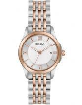 Bulova Classic Silver & Rose Gold Tone Watch