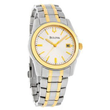 Bulova Classic Two Tone Silver Tone Dial Watch