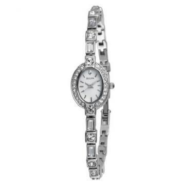 Bulova Crystals White Dial Watch