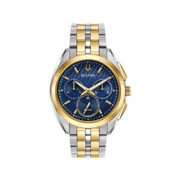 Bulova CURV Chronograph Two Tone Blue Dial