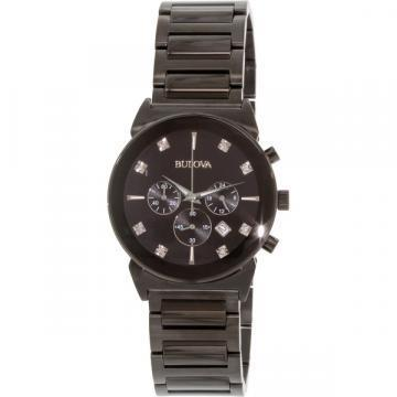 Bulova Diamonds Chronograph Black IP