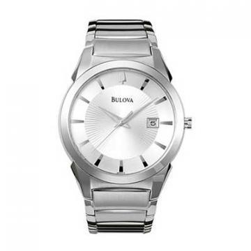 Bulova Dress Silver Dial Stainless Steel Watch
