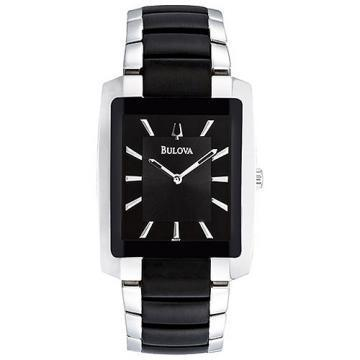Bulova Dress Black & Silver Tone Watch