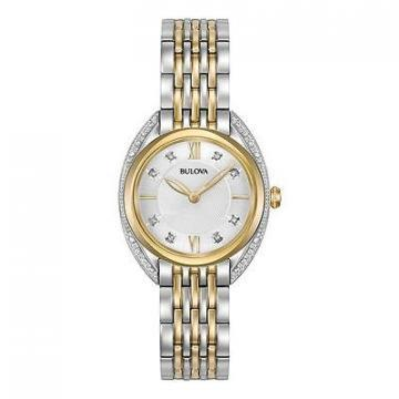 Bulova Diamonds Sapphire Two Tone Watch