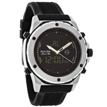 Bulova Marine Star Chronograph Analog/Digital Rubber