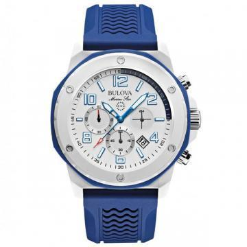 Bulova Marine Star Chronograph Blue Rubber
