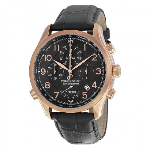 Bulova Precisionist Chronograph Black Leather