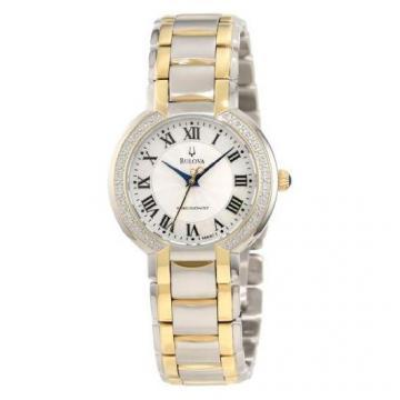 Bulova Precisionist Fairlawn Two Tone Diamonds Watch