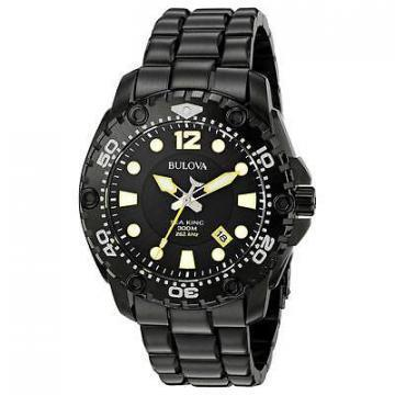 Bulova Sea King Black IP Diver's 300m Watch