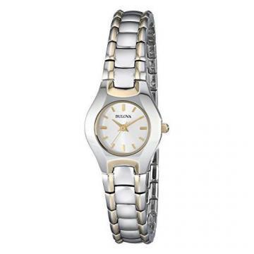Bulova Two Tone Silver Tone Dial Watch