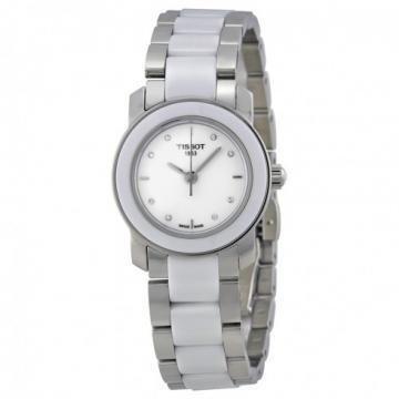 Tissot Cera White Ceramic Silver Tone Watch