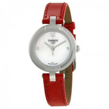 Tissot Pinky Mother Of Pearl Dial Pink Leather Watch