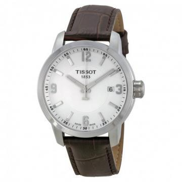 Tissot PRC 200 Quartz Gent Black Gator Leather Watch