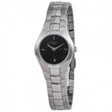 Tissot T-Round Black Mother Of Pearl Watch