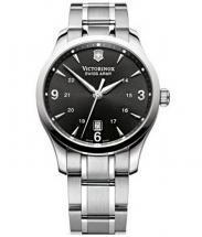 Victorinox Alliance Black Dial Silver Tone Watch