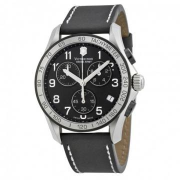 Victorinox Chrono Classic Black Dial & Leather Chronograph