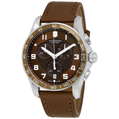 Victorinox Chrono Classic XLS Brown Dial & Leather Chronograph
